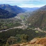 Bassa Valtellina  dall'imbocco del Tartano
